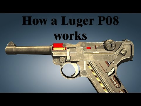 How a Luger P08 works