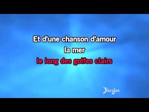 Karaoké La mer - Chantal Chamberland *