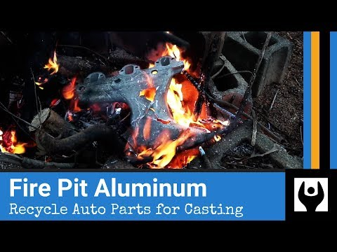Break Down Aluminum in a Fire Pit - Magic of Hot Shortness // Metal Casting Feedstock