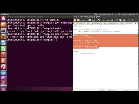 Using make and writing Makefile ( in C++ or C )