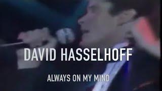 DAVID HASSELHOFF ALWAYS ON MY MIND