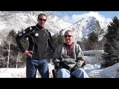 Bill Demong(Gold Medalist) and Mark Christiansen(World's longest living quadriplegic..almost)