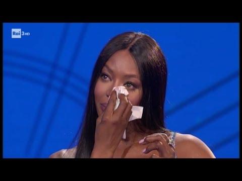 Le lacrime di Naomi Campbell - Che tempo che fa 12/03/2017