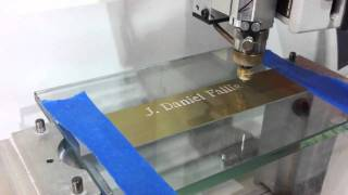Engraving Name & Award Title onto Metal Plate for Recognition