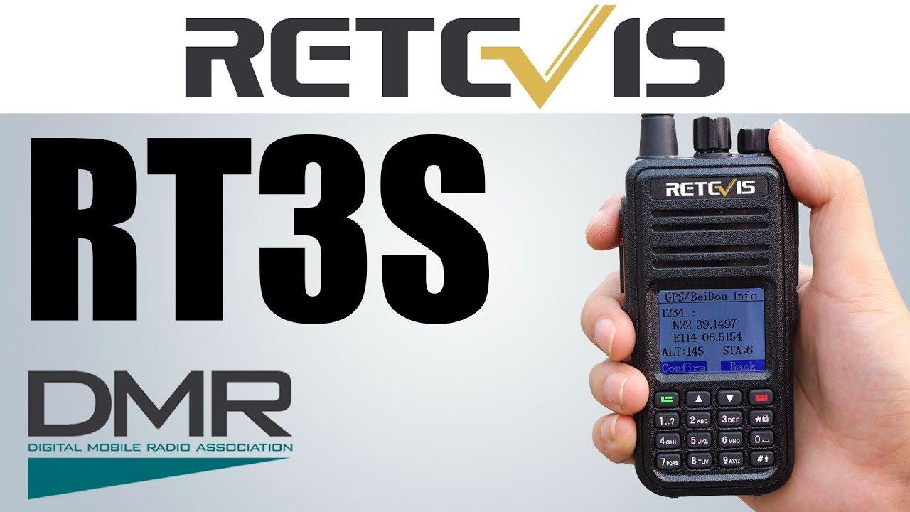 RETEVIS RT3S Dual Band DMR /FM Handheld Radio