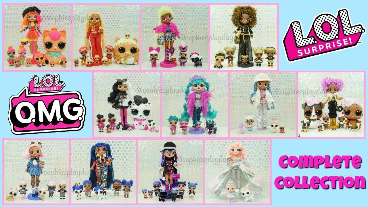 LOL Surprise OMG Fashion Dolls Complete Collection LOL Surprise Winter Disco Amazing Surprise