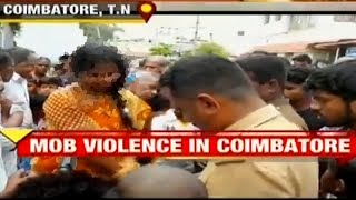 Coimbatore: Woman mistaken to be a kidnapper, brutally thrashed by mob