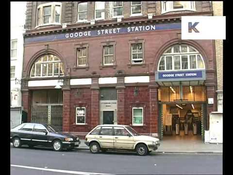 1990s Goodge Street Tube Station, London Underground