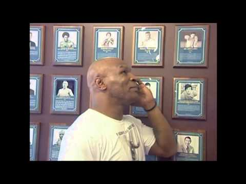 Mike Tyson tours the International Boxing Hall of Fame