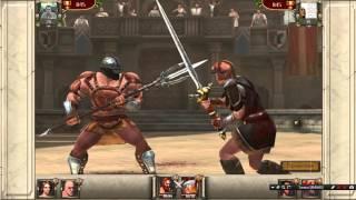 Гладиаторы 3д Арена и кровь бой 2