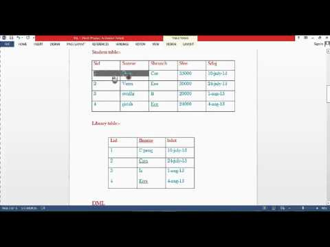 Sql telugu Lesson1create table,insert,select
