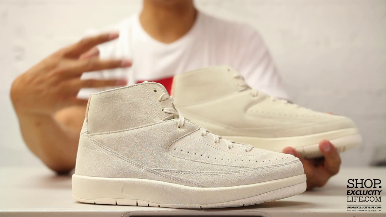 43027bbdc386 Air Jordan 2 Retro Deconstruct Sail Unboxing Video at Exclucity ...