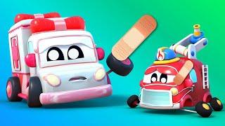 Малыши Машинки МАЛЫШИ играют в ДОКТОРА вместе со СКОРОЙ ПОМОЩЬЮ Обучающие мультфильмы для детей