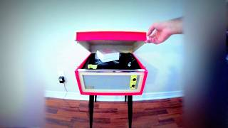 Unboxing Crosley Bermuda Record Player (Red) Stop Motion