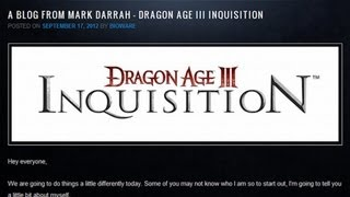 GS News - Dragon Age III: Inquisition coming 2013