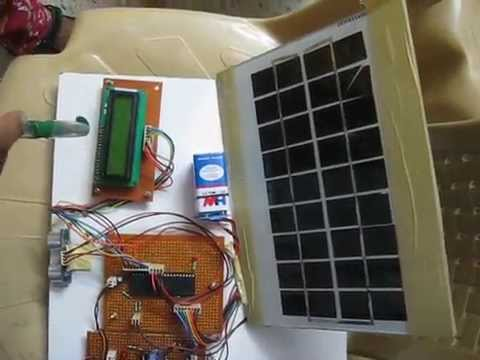 Solar powered vehicle with GH 311 Ultra sonic based obstacle avoidance robot