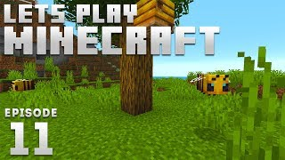 iJevin Plays Minecraft - Ep. 11: BEE'S!!!! (1.15 Minecraft Let's Play)