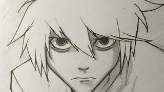 Как нарисовать Л из аниме