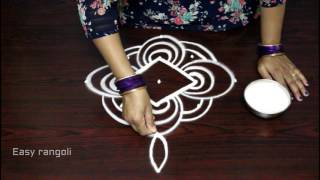 simple and easy rangoli designs with dots || muggulu designs|| rangoli kolam designs