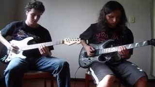 Amon Amarth - The Pursuit Of Vikings - All guitars cover (backing track)