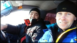 A trip to the country through the snowdrifts to the Toyota Town Ace Noah 4 WD