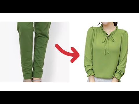 How to make top from waste legging