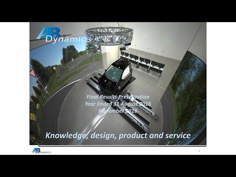 AB Dynamics (ABDP)  presentation November 2016