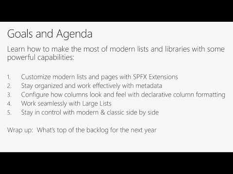 Geek out with the product team on SharePoint lists and libraries - BRK3252