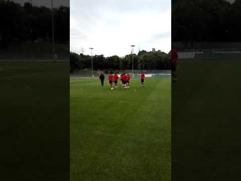 Тренинг на младинската репрезентација пред мечот со Португалија