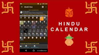 Hindu Calendar 2017-2018 Best App in Indian Calendar.