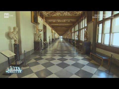 Gli Obama a Firenze per una visita agli Uffizi - La Vita in Diretta 22/05/2017