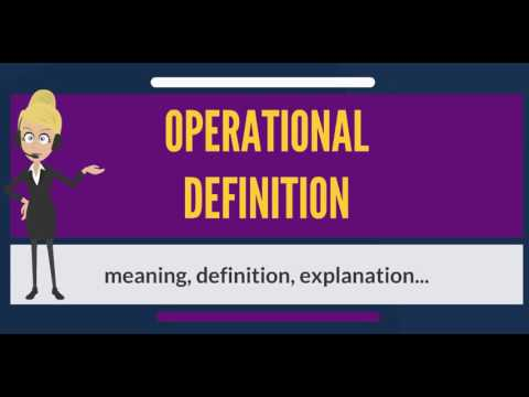 What Is Operational Definition What Does Operational Definition