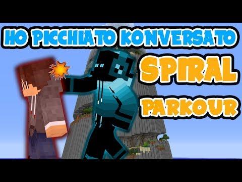 MINECRAFT SPIRAL PARKOUR - E01 | HO PICCHIATO KONVERSATO! - ITA