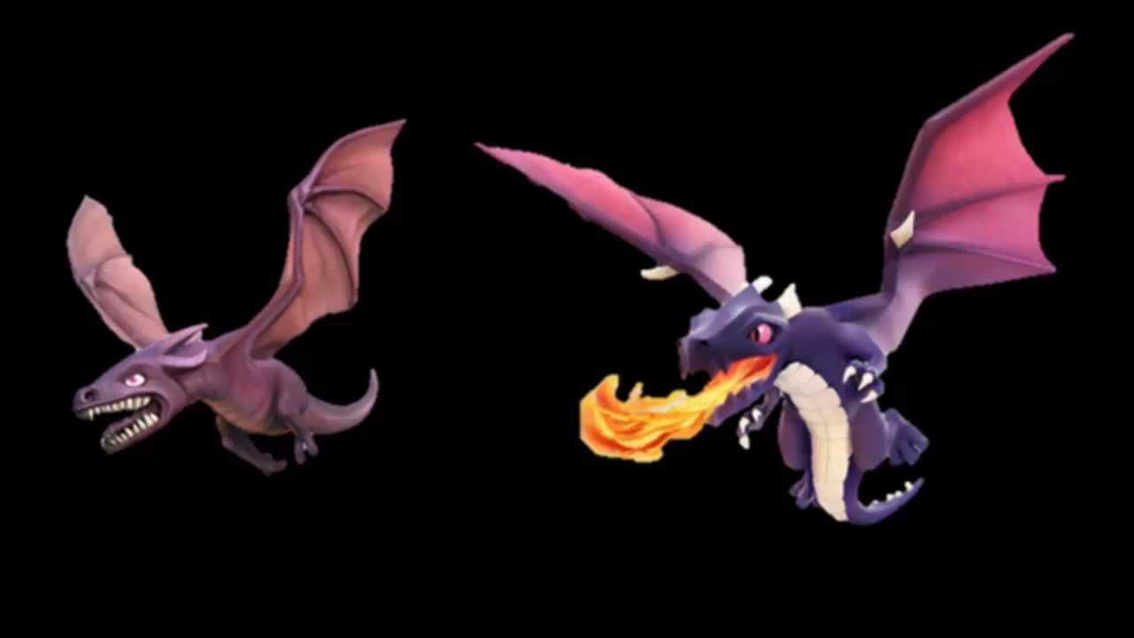 Clash Of Clans Old Vs New Dragons Raid Youtube