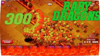 FUN!! Clash Of Clans!! 300 Baby Dragons And Rage Spells..