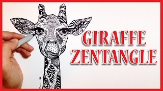 GIRAFFE ZENTANGLE! (◕_◕)