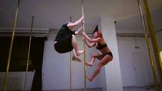 Vane Lunatica & Josh Taylor at Milan Pole Dance Studio