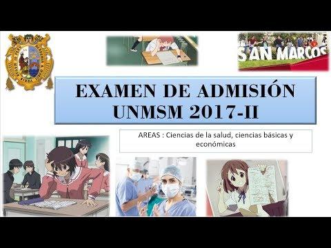 Examen de admisión San Marcos 2017-II (universidad mayor de san marcos)