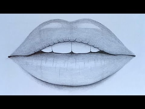 How to draw Lips with pencil sketch step by step thumbnail
