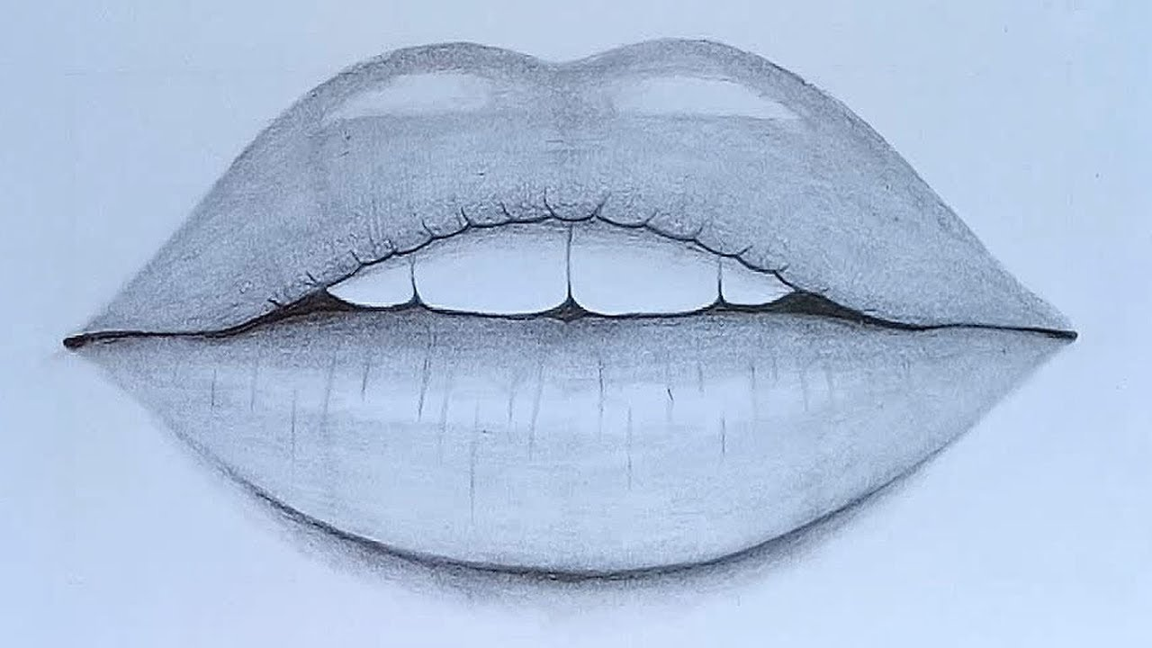 How to draw Lips with pencil sketch step by step - YouTube