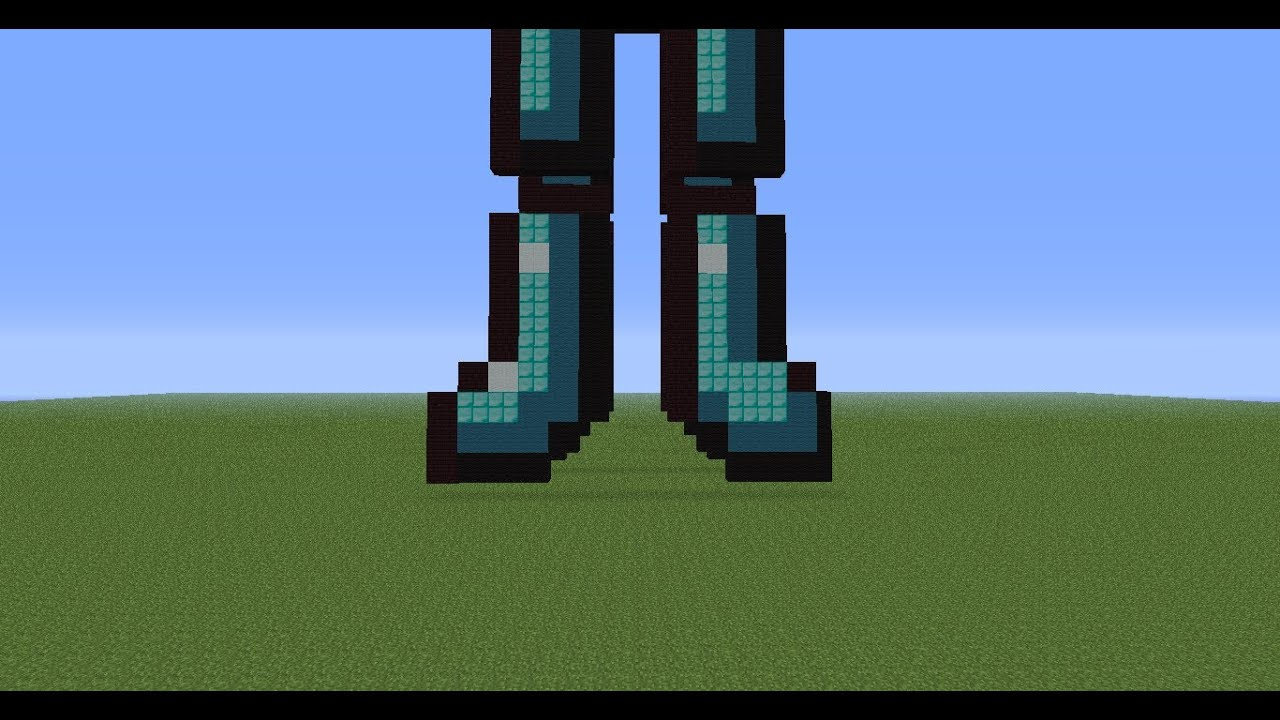 minecraft pixel art tutorial 54: Diamond Boots - YouTube