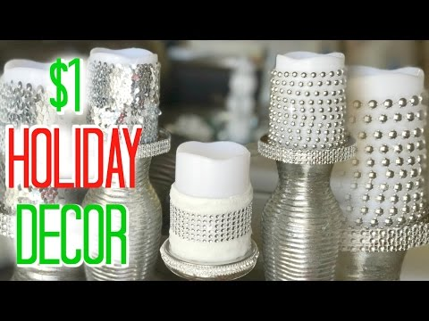 Chic & Fabulous Decorative Candles - DIY Christmas Decorations