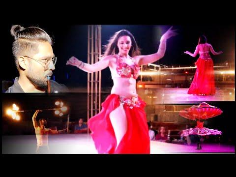 Belly dance in Dubai || Fire show in Dubai desert || part 2 || Best place to visit in Dubai || HOT 💃