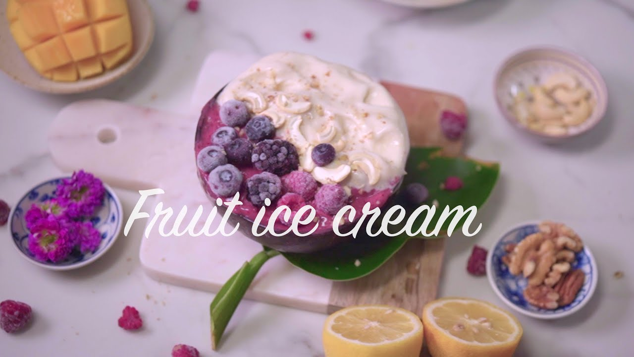 Fruit ice cream B-roll | Cinematic Video