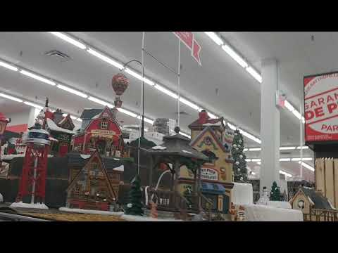 michaels christmas 2018 lemax christmas village display and boxes display not turned on - Michaels Christmas Village