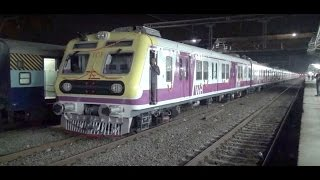 Brand New ICF Swanky Stainless Steel Local Train captured at Vasai Road behind KYN WCAM-3 Locomotive