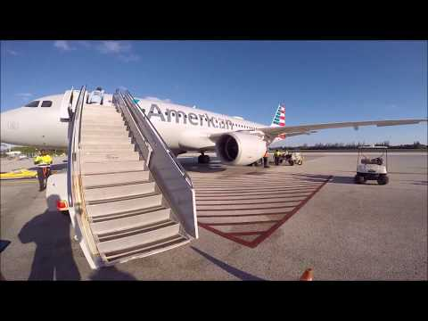 American Airlines Airbus A320 Departing Owen Roberts Intl. Grand Cayman MWCR