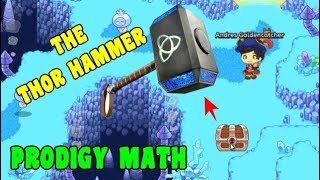 I Found THE THOR HAMMER 🔨 | Prodigy Math GAME🔵☑️