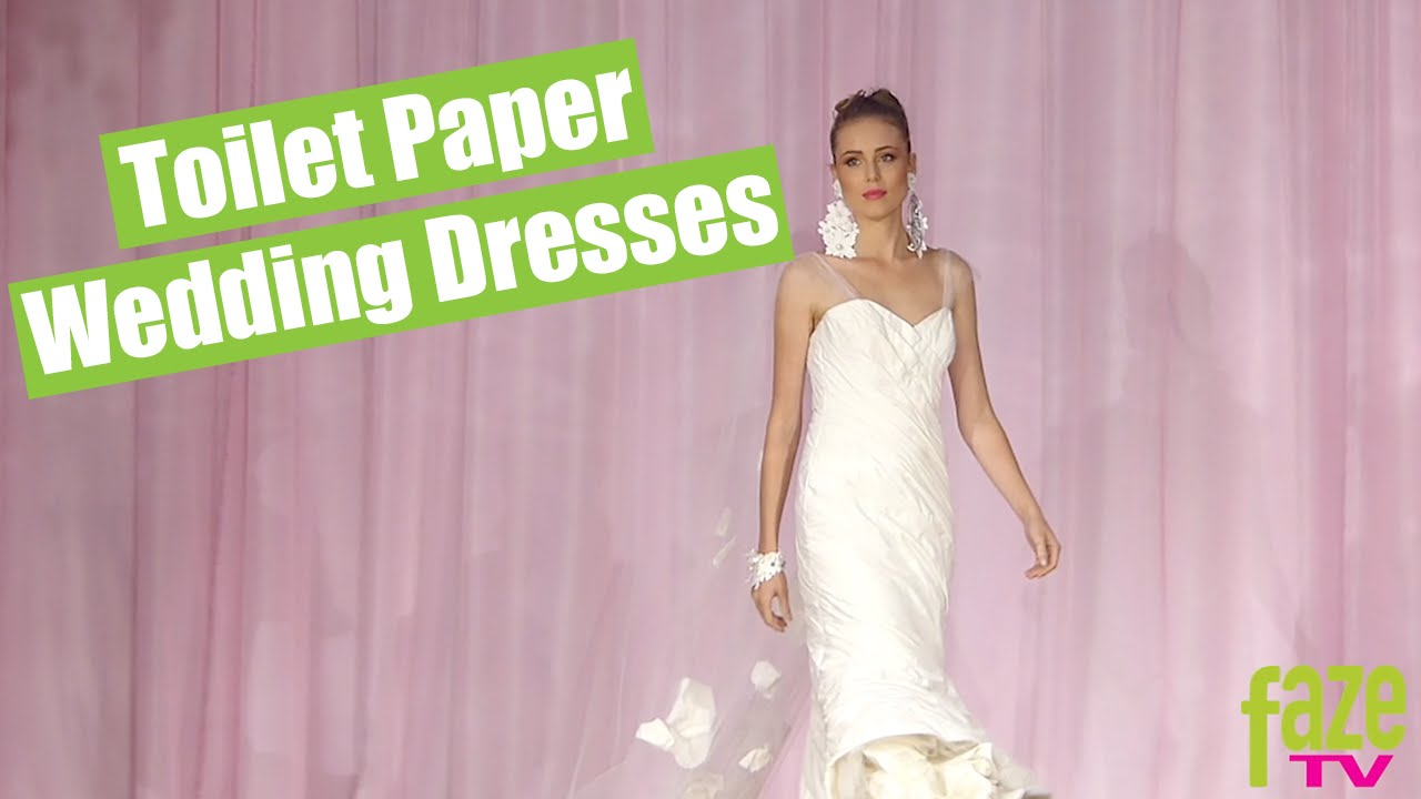 White Cashmere Collection   Dresses Made Of Toilet Paper    YouTube White Cashmere Collection   Dresses Made Of Toilet Paper