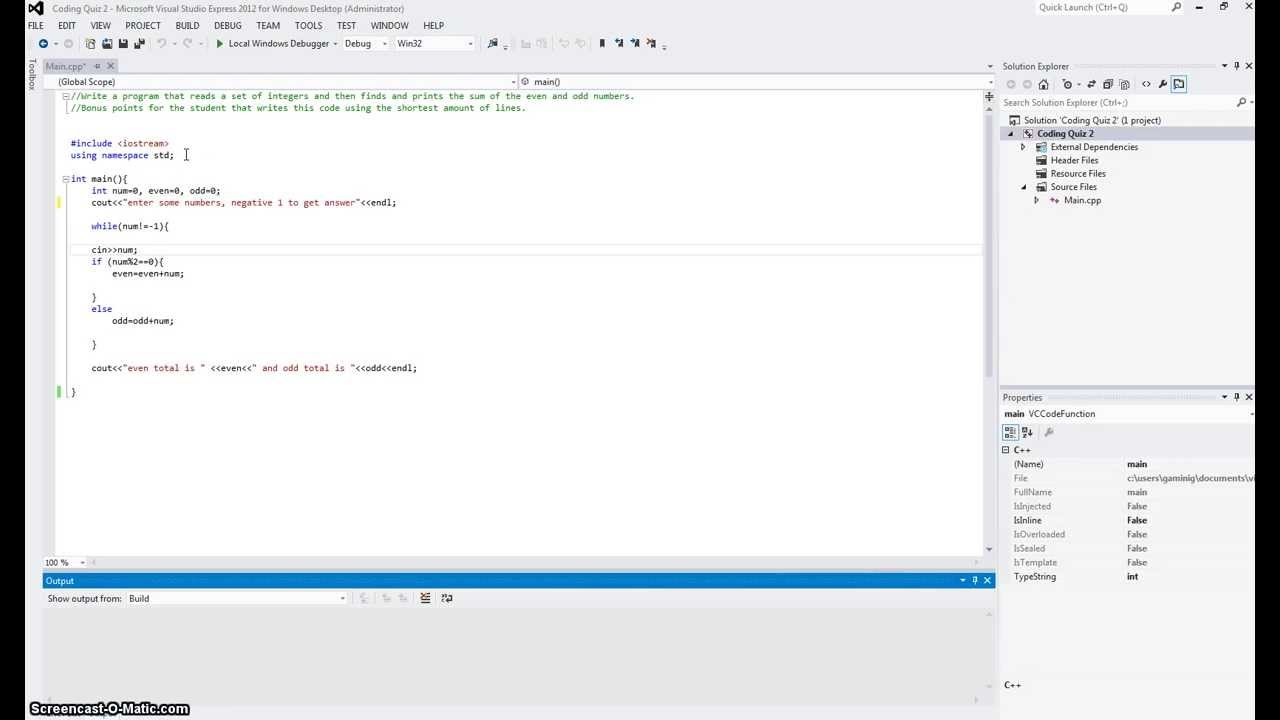 Writing a simple program in matlab to make standard
